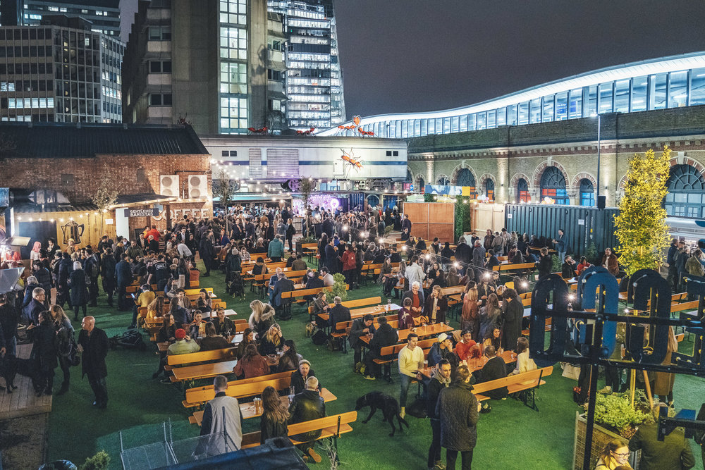 An image of the 'Vinegar Yard' outdoor space.