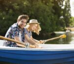 couple in a boat