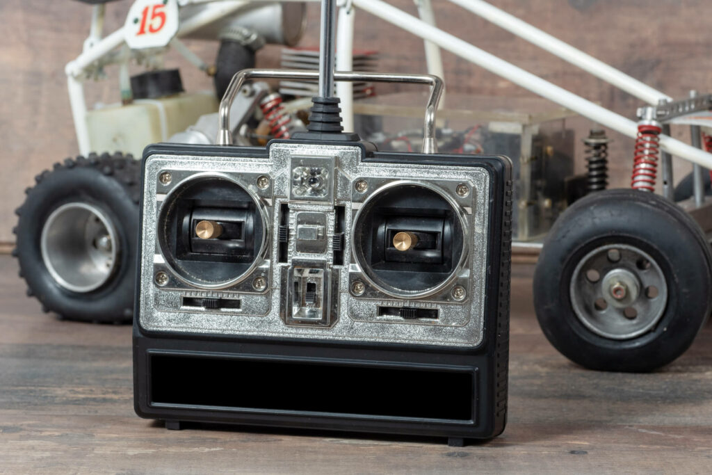 A RC car and radio